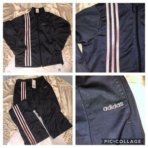 Adidas 3 Stripe Track Jacket & Pants Tracksuit
